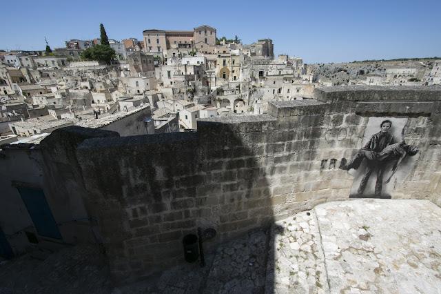 Panorama di Matera-Murales di Pasolini
