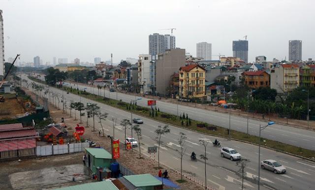 Hà nội làm đường 60m nối 3 quận huyện