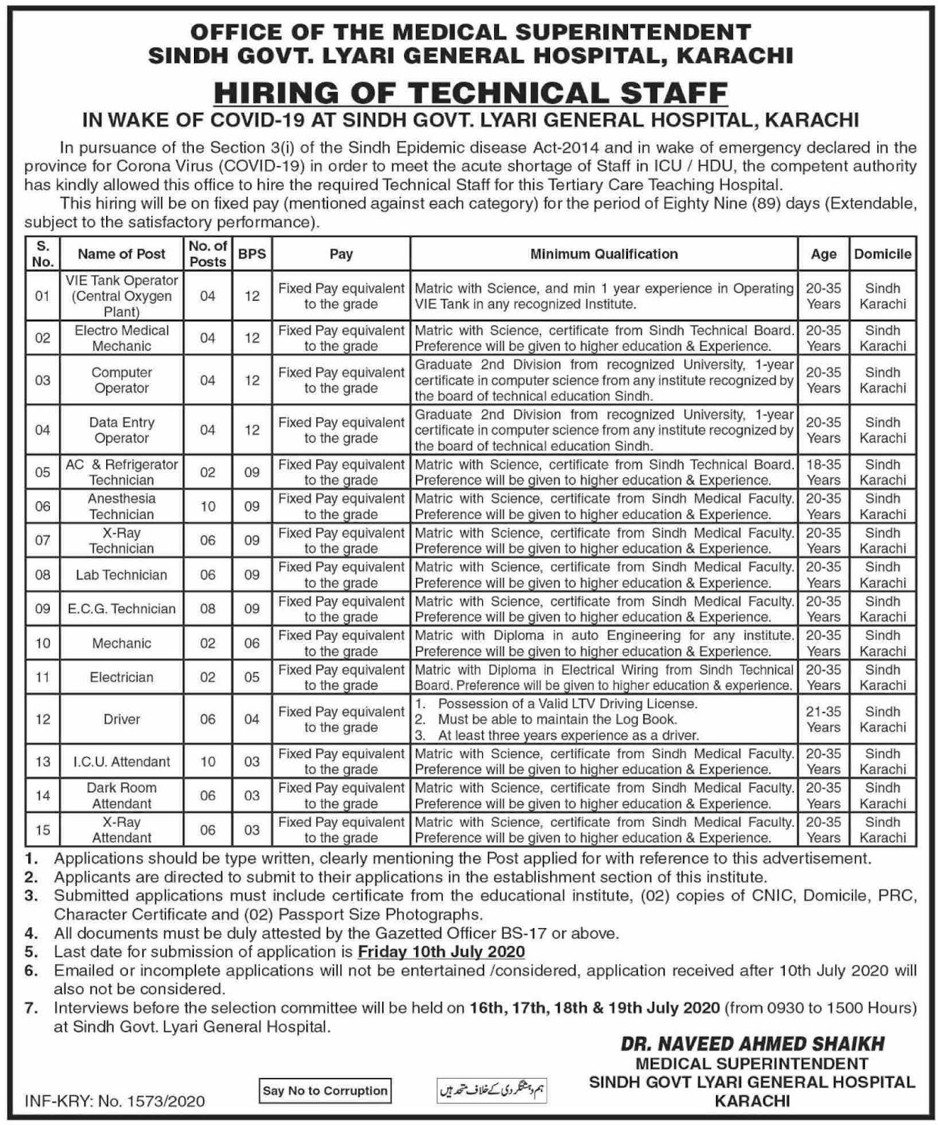 Lyari General Hospital  2020