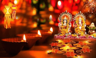 Celebration of Diwali