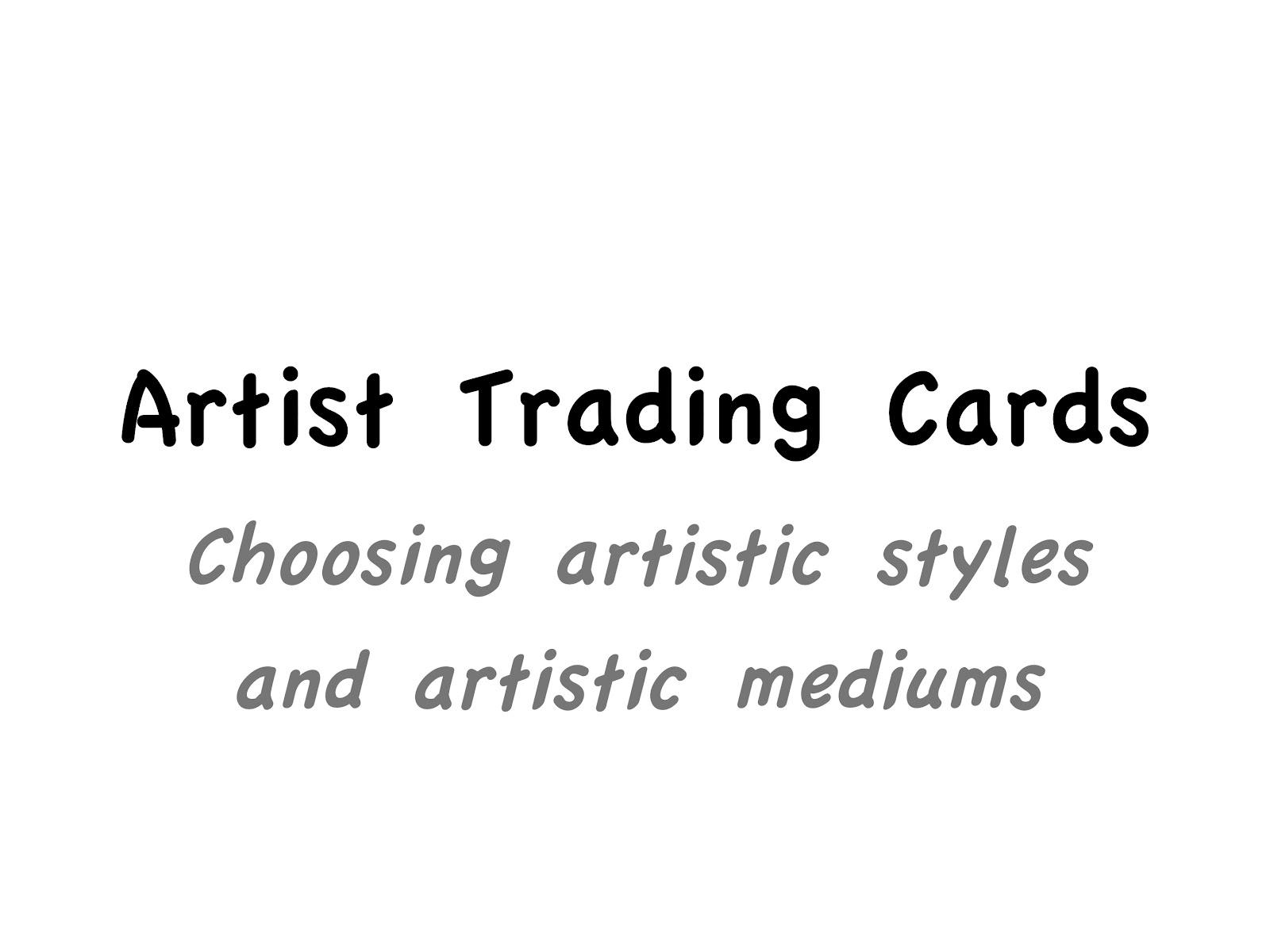 Art at Becker Middle School: Artist Trading Card- Artists