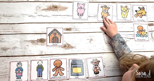 Help your students retell the story of The Gingerbread Man with these printable sequencing cards. Perfect for preschool or kindergarten. #kindergarten #free #printable #preschool