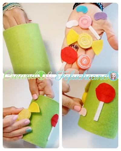 pegamos-los-caramelos-2-Ideas-con-Fieltro-para-el Regreso-a-Clases-portalápices-y-Marcapáginas-creandoyfofucheando