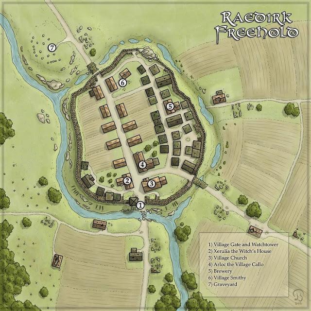 Você pode dar nome as pessoas importantes que vivem no vilarejo e assim ir montando a história do lugar.