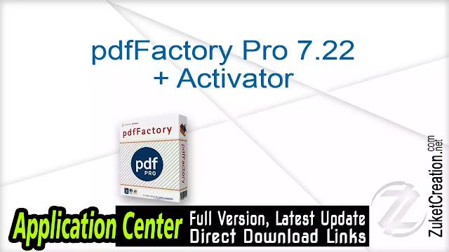 pdfFactory Pro 7.22 + Activator