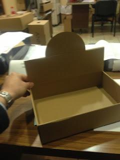 caja expositora con tapa sin impresion