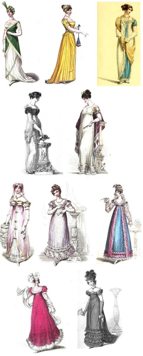 Regency History Regency Evening Wear A Tale In Ten Dresses