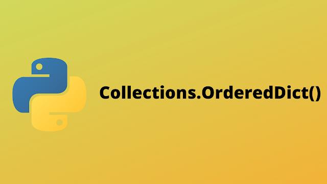 HackerRank Collections.OrderedDict() solution in python