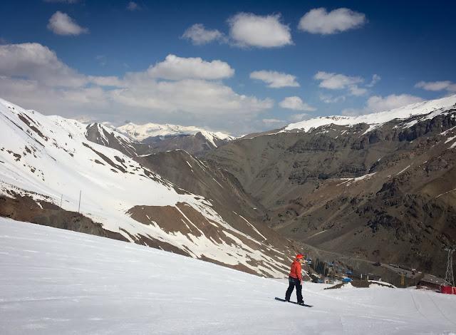 Snowboarding; Dizin Ski Resort, Iran