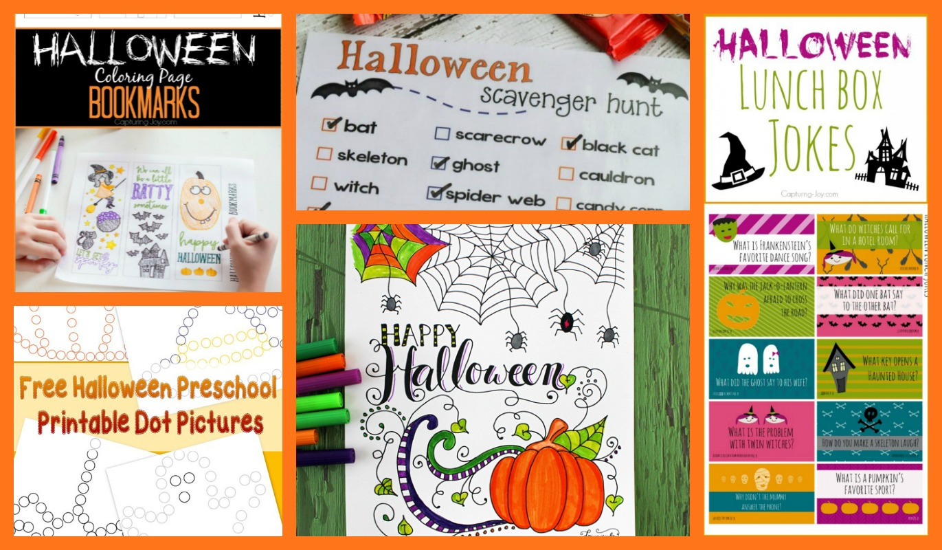 create some halloween bookmarks with this free printable page