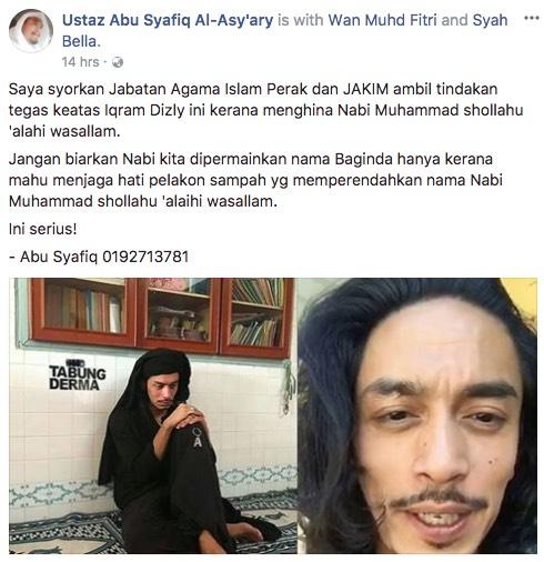 Iqram Dinzly Digelar 'Pelakon Sampah' Selepas Dikatakan Menghina Nabi Muhammad SAW Di Melodi