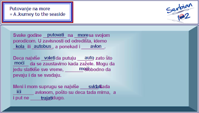 Serbian Past Tense Exercise