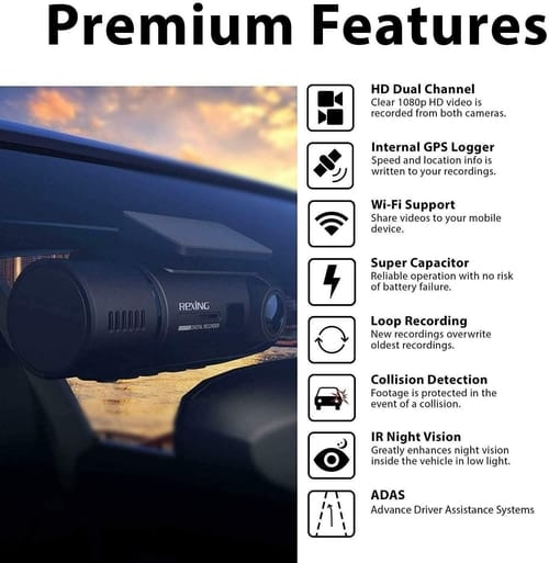 Review Rexing V3 Dual Full HD Car Camera Night Vision