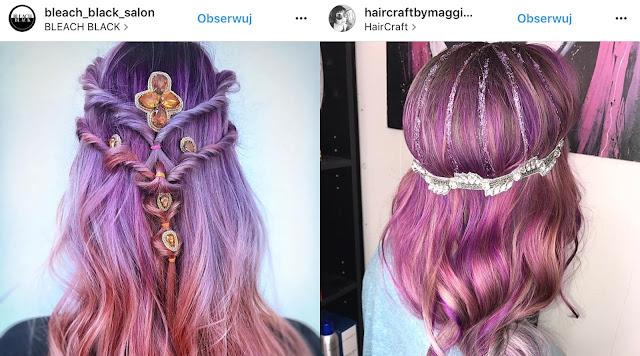 fioletowe włosy po farbowaniu