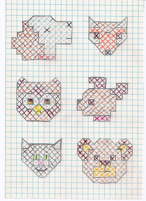 Little animal cross-stitch patterns