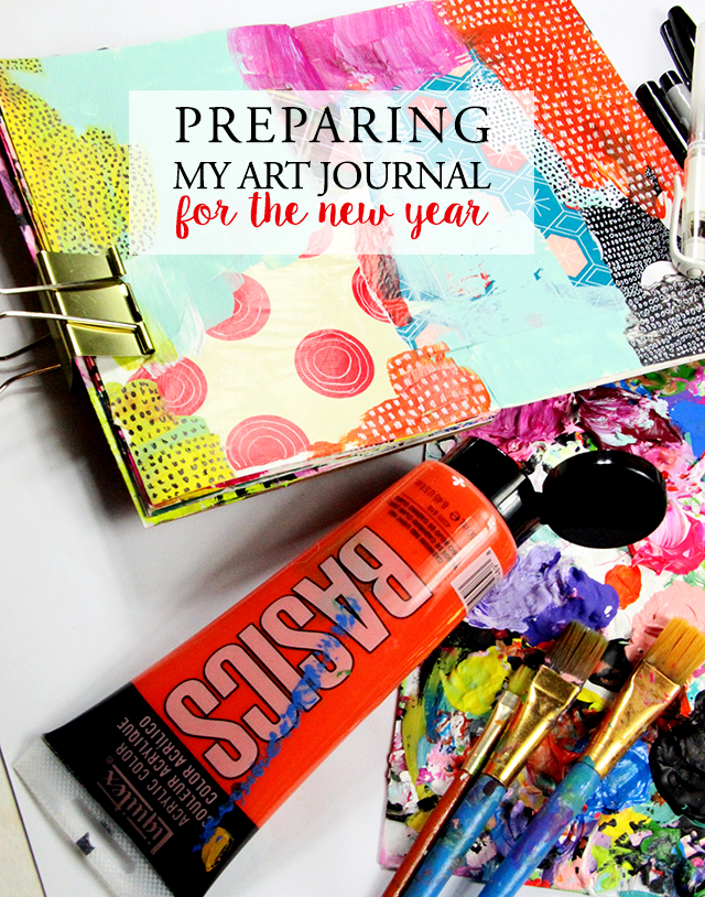 preparing my art journal for the new year!