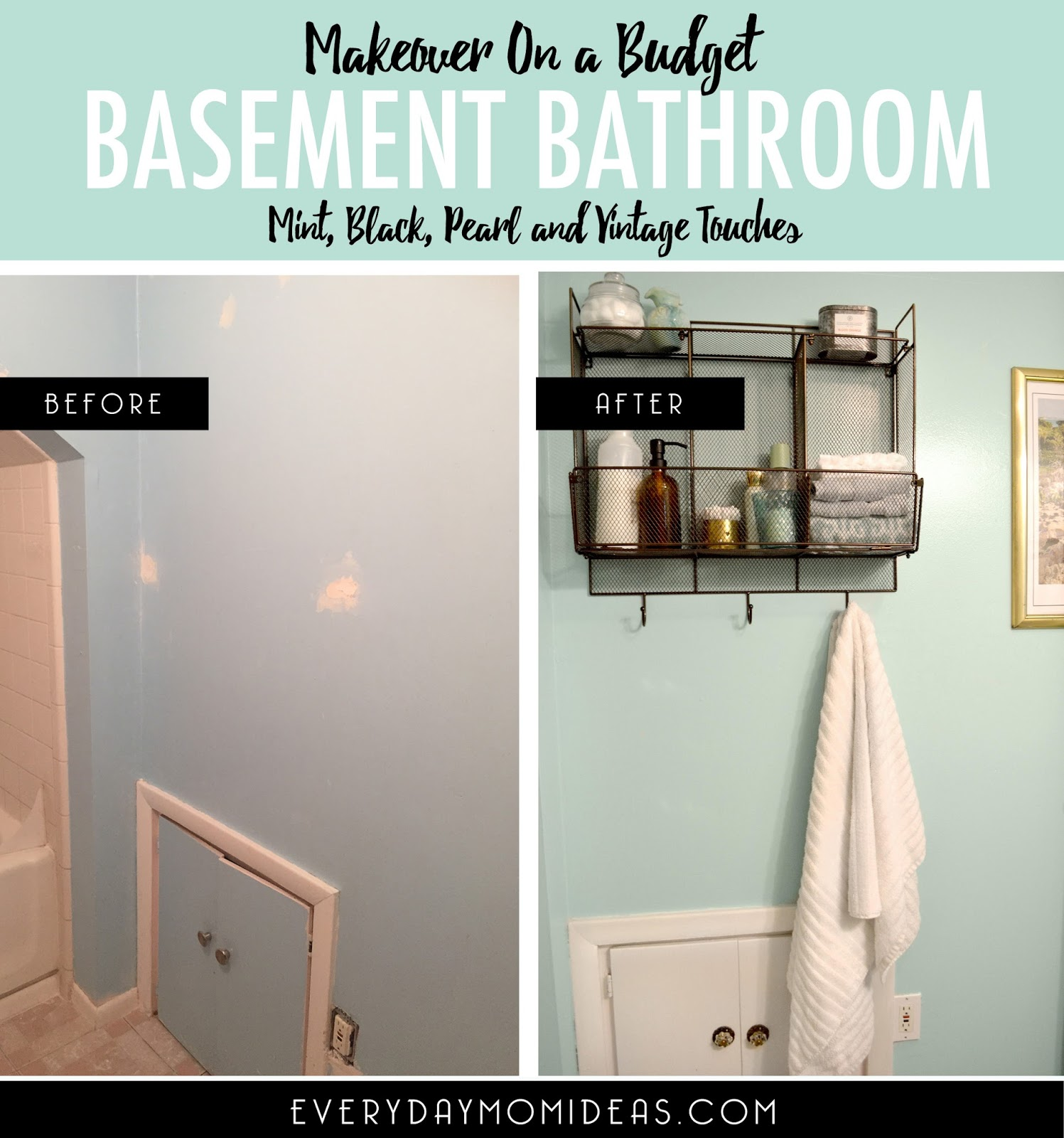 ... Accents Throughout Including The Light Fixture, Towel Holder, Wall  Mounted Storage Rack, Frosted Glass Shelves And Even The Amber Glass Soap  Dispenser.