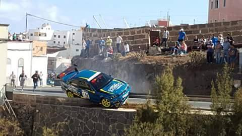 susto Accidente subida Arucas 2016