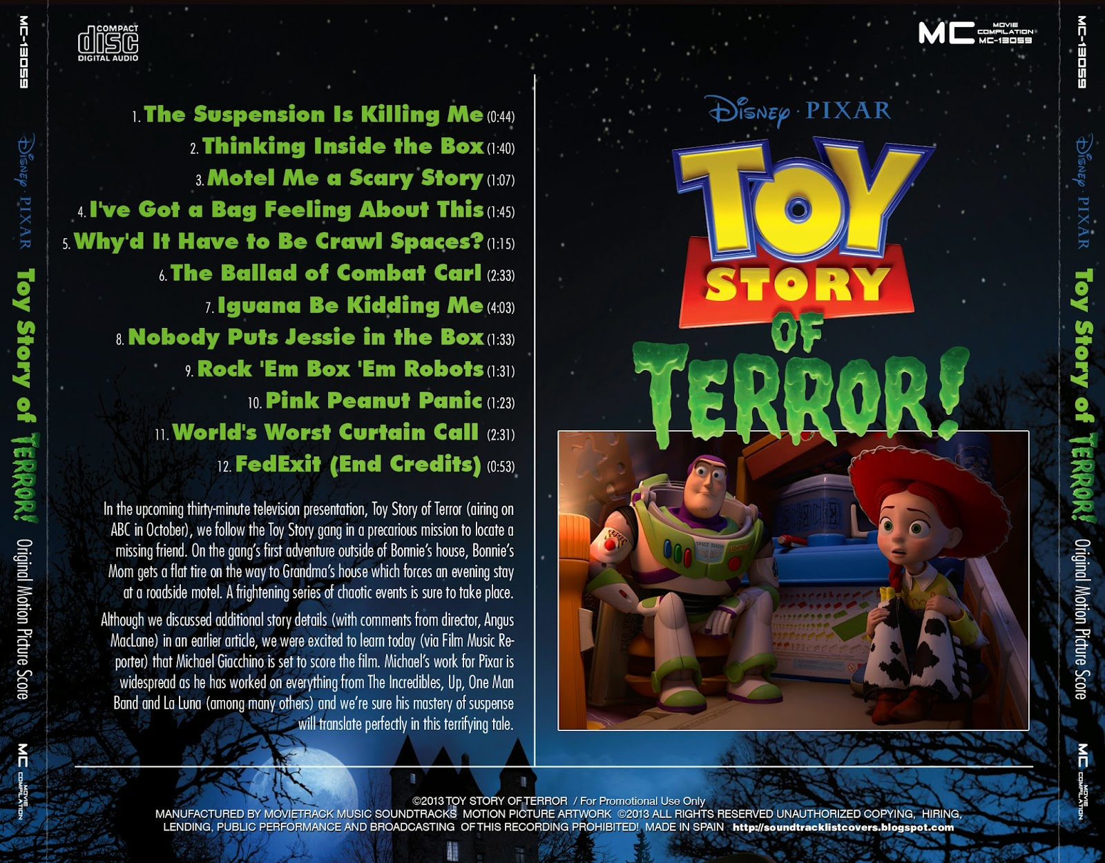 Toy Story Of Terror Dvd Cover - ma