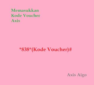 Memasukkan Kode Voucher Axis