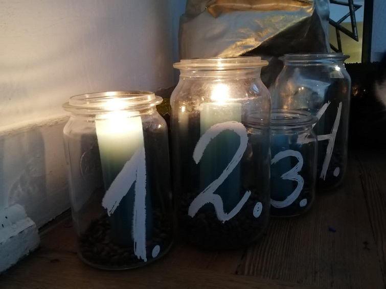 Advent Kerzengläser