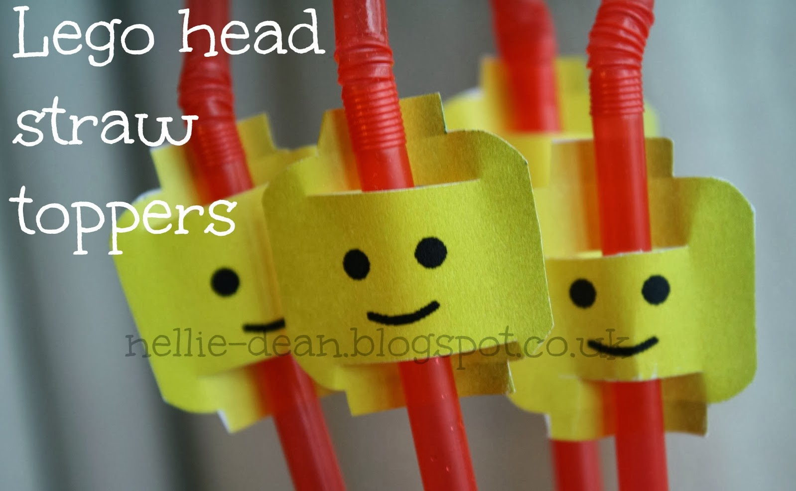 Nellie Dean Lego Straw Toppers Printable