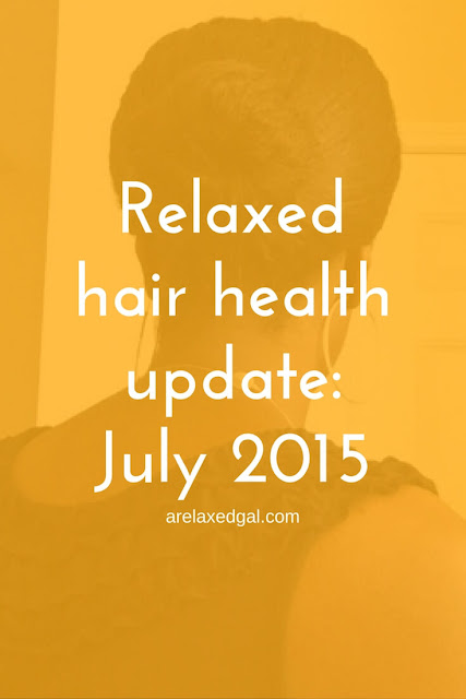 I'm sharing the highlights of the health of my relaxed hair during July 2015. I'm also sharing a sneak peek of what's to come for my hair in August. | arelaxedgal.com