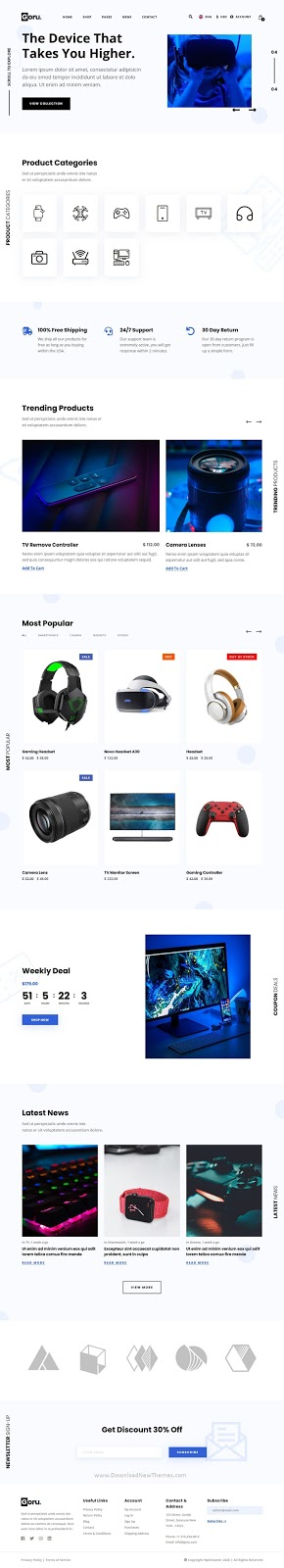Best Electronics eCommerce Website Template