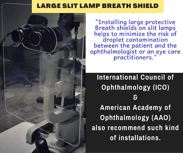 Slit Lamp Breath Shield