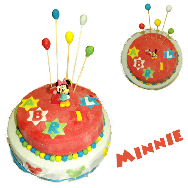 Tarta decorada de Minnie Mouse