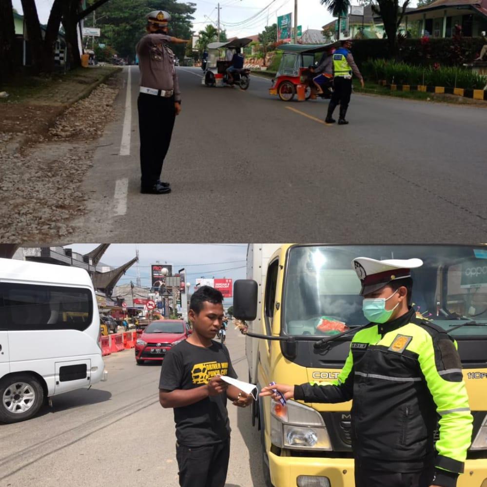 Rutin Dilaksanakan Pengaturan Arus Lalu Lintas di Wilayah Hukum Polres Toraja Utara