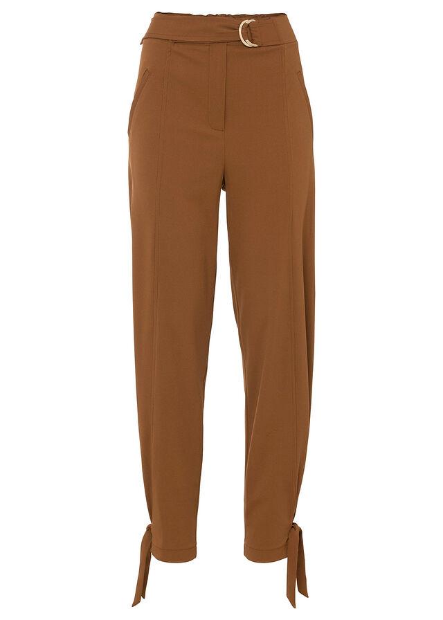 Spodnie z wiązanym paskiem