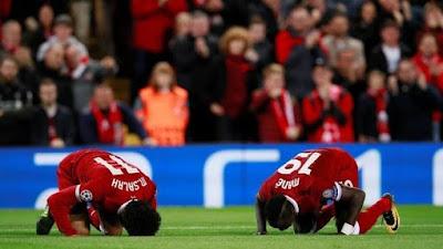 Sadio Mane dan Mohamed Salah Sujud Syukur Usai Jebol Gawang RB Leipzig, Barcelona Tersingkir