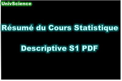 Résumé Du Cours Statistique Descriptive S1 PDF.