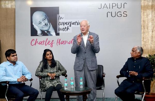 jaipur, rajasthan, jaipur rugs, management guru, charles handy