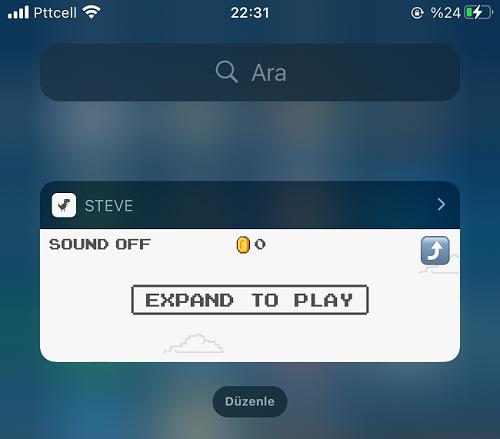 Steve Oyunu Oynamak için Genişletin