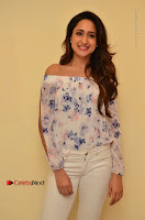 Actress Pragya Jaiswal Latest Pos in White Denim Jeans at Nakshatram Movie Teaser Launch  0052.JPG