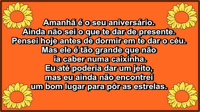 anniversarius - Mensagem de Aniversário - Amanha é o seu aniversário