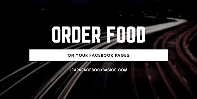 How can people order food from my restaurant through my Page on Facebook?