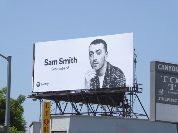Sam Smith Spotify billboard