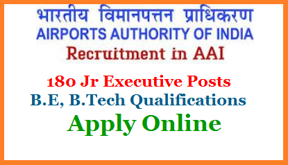 Airport Authority of India Recruitment 180 Junior Excutive Posts with GATE 2019 Get Details  Airports Authority of India (AAI), a Government of India Public Sector Enterprise, constituted by an Act of Parliament, is entrusted with the responsibility of creating, upgrading, maintaining and managing civil aviation infrastructure both on earth and into the air space in the country. AAI has been conferred upon with the Mini Ratna Category - I Status.