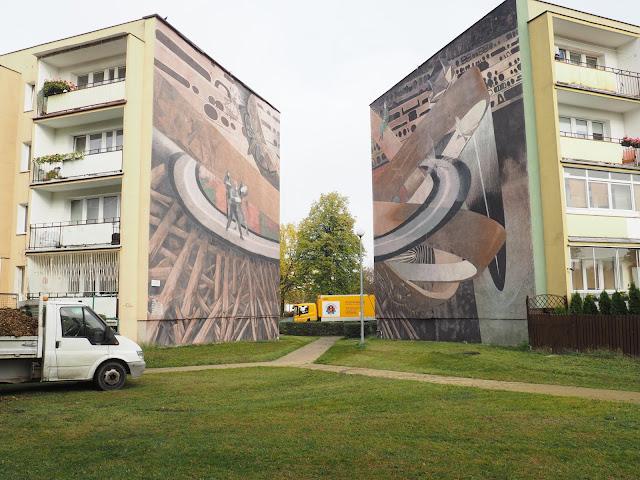 Street art murals in Zaspa, Gdansk