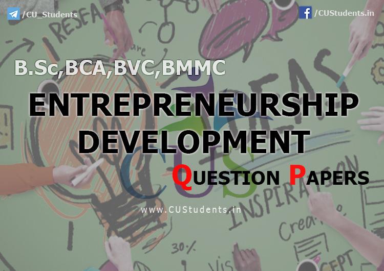 BCA Entrepreneurship Development Previous Question Papers