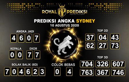 Royal Prediksi Sidney Senin 10 Agustus 2020