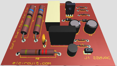 Soft Start for Power Amplifier Circuit  - Electronic Circuit