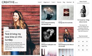 creative multipurpose blogger template