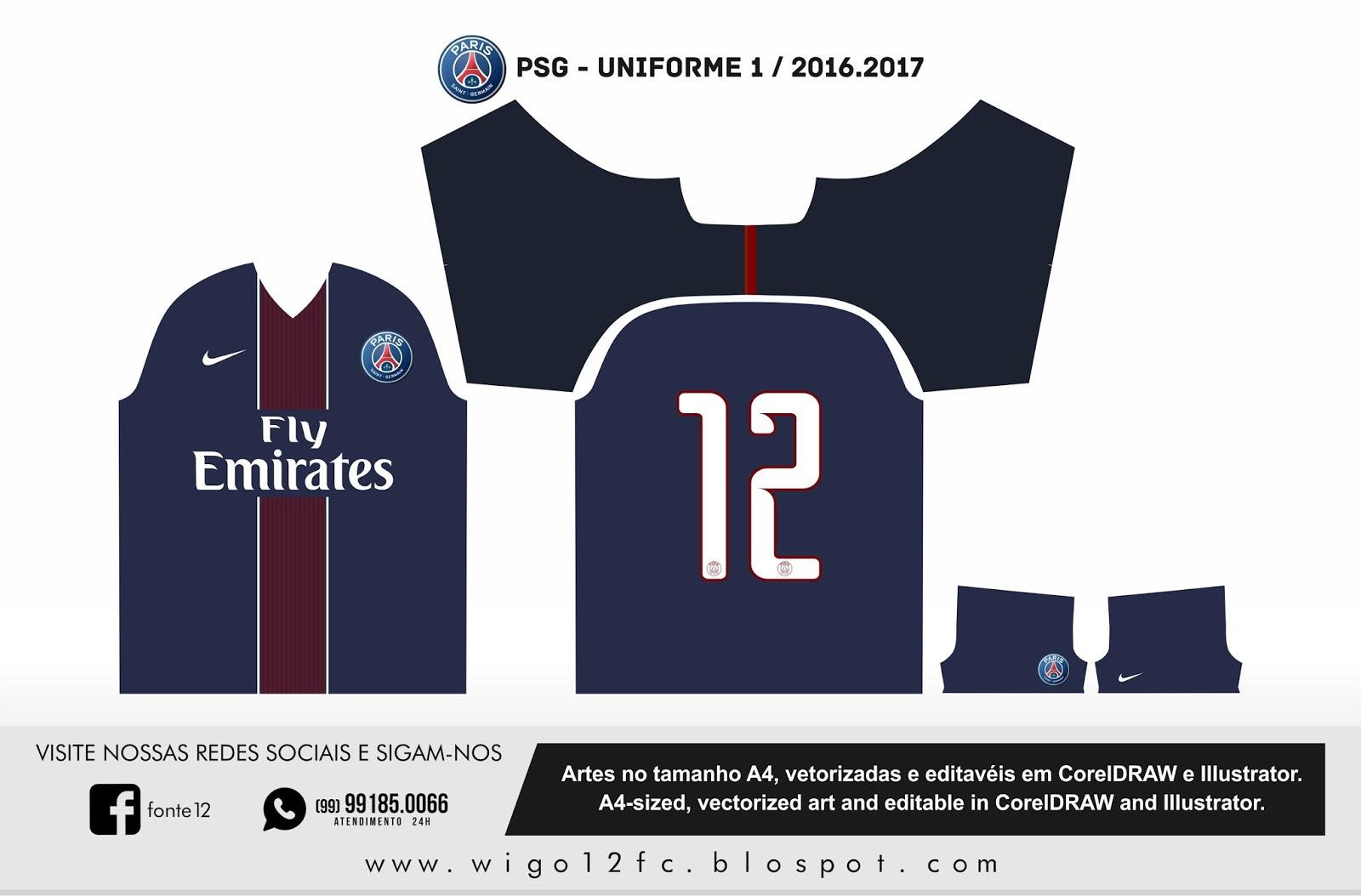 fontes camisas futebol uniforme psg 2016 2017. Black Bedroom Furniture Sets. Home Design Ideas