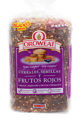 Oroweat cereales, semillas y frutos rojos