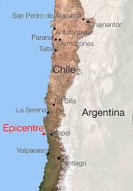 Terremotos atingem Chile e Argentina