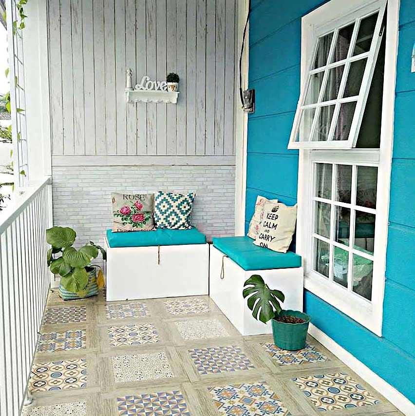 103 Gambar Rumah Cat Biru Putih Gratis